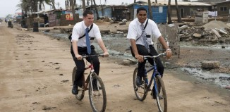 mormon missionaries on bikes