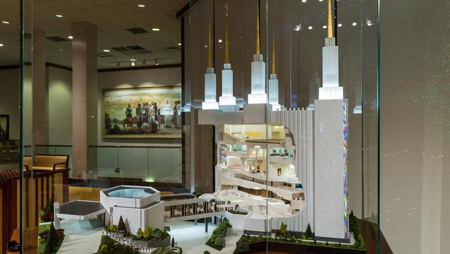 Washington D.C. temple model