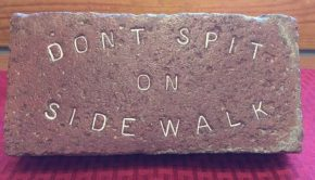 brick with words on it