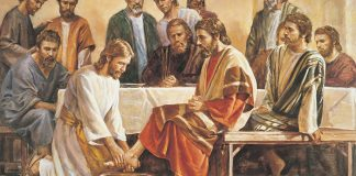 Painting of Jesus Washing the Feet of the Disciples