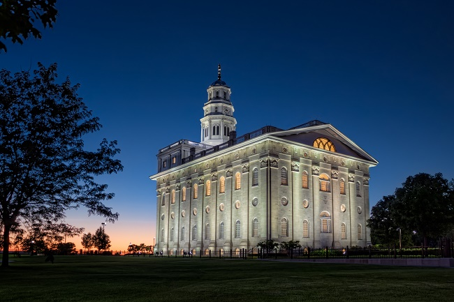 The rebuilt Nauvoo Temple
