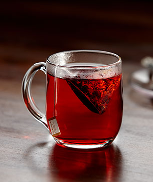 Glass of Passion Tango tea