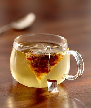 Glass of warm Peach Tea