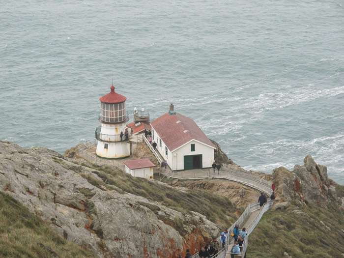 Point Reyes Lighthouse from above