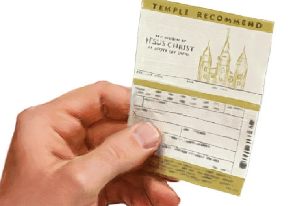 an LDS Temple Recommend