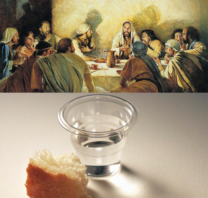 Connection between Passover, unleavened bread, and Christ instigating the first sacrament