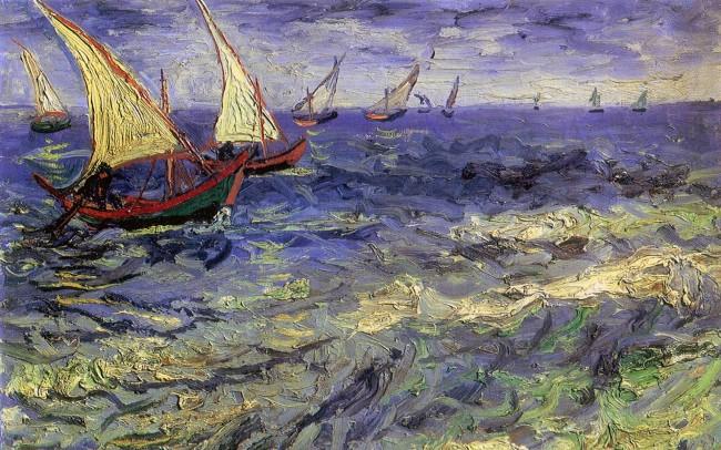 Van Gogh painting ships