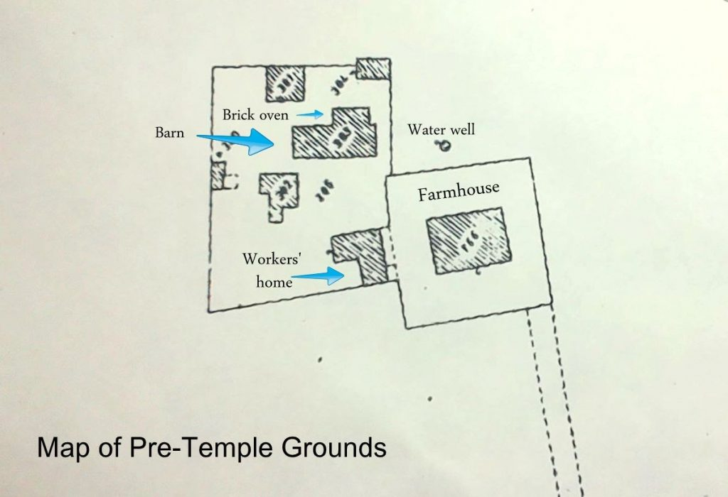 A map of the temple grounds before the temple started being built.