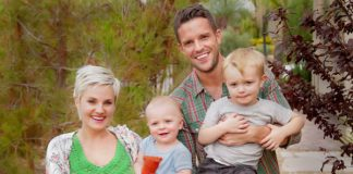 Brandon Flowers and family