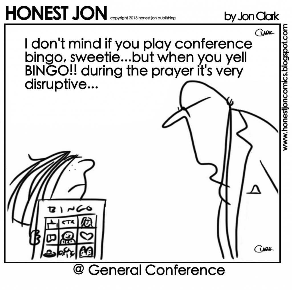 Don't yell Bingo during the prayer