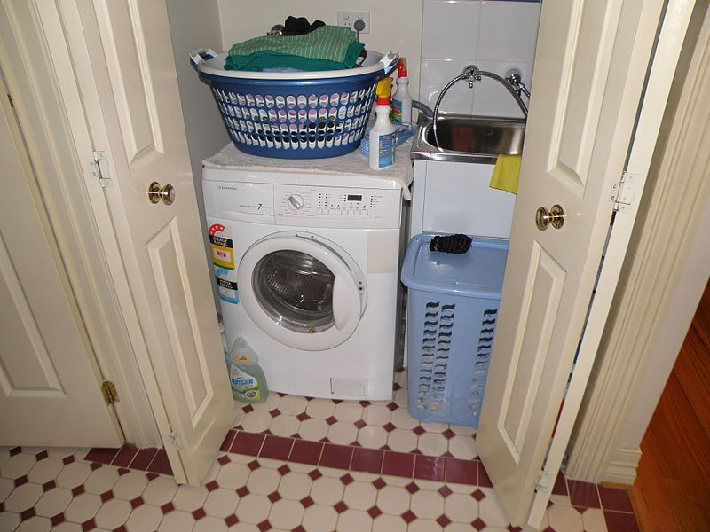 Washer and dryer in a closet