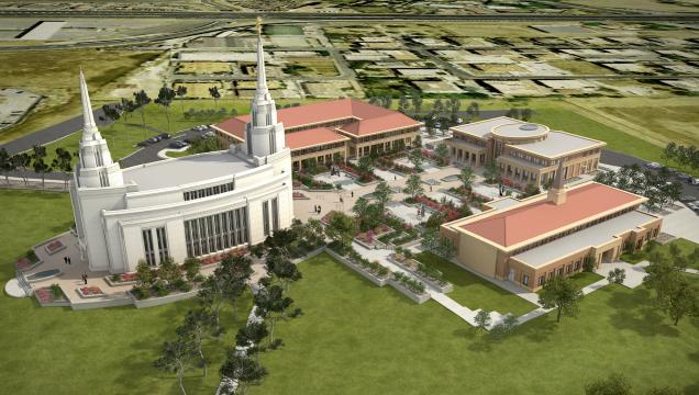 3D computerized image of the completed Rome Temple
