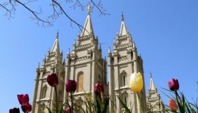 Salt Lake City Temple in spring