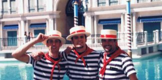 gondolier at the Venetian Hotel