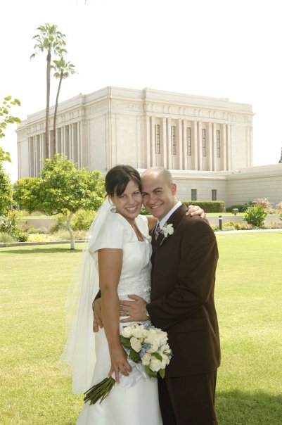 Newlywed couple married for time and eternity at the Mesa Temple
