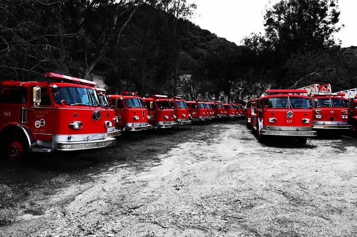 LA County firetrucks