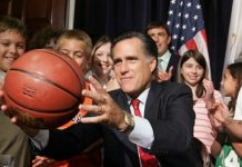 Mitt Romney, basketball