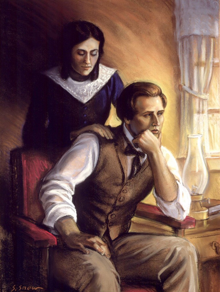 painting of Joseph and Emma Smith by Snow