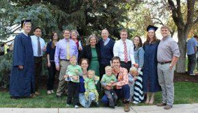 Family photo at BYU Graduation