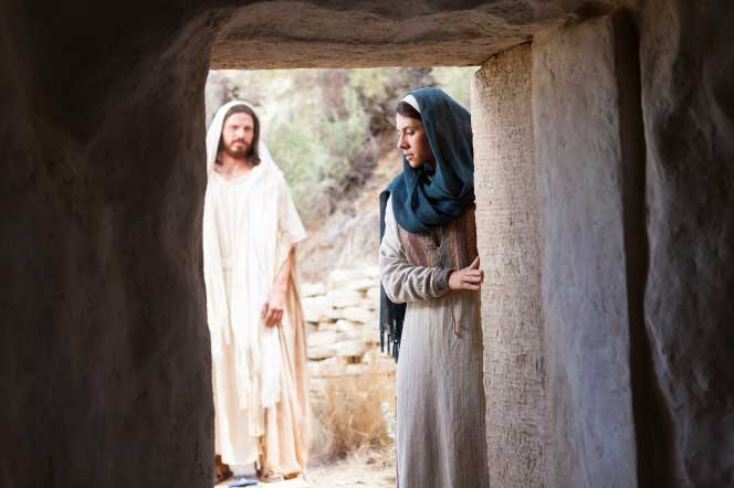 Christ appearing to Mary Magdalene after his resurrection Image via churchofjesuschrist.org