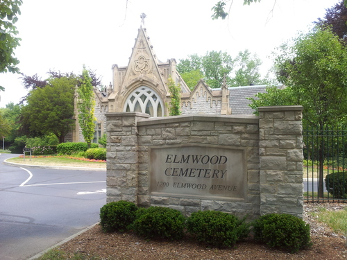 Church history sites: Elmwood Cemetery