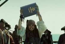 Jack Sparrow holds the book of mormon