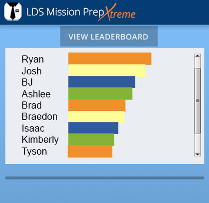 Leaderboard, Mission Prep App