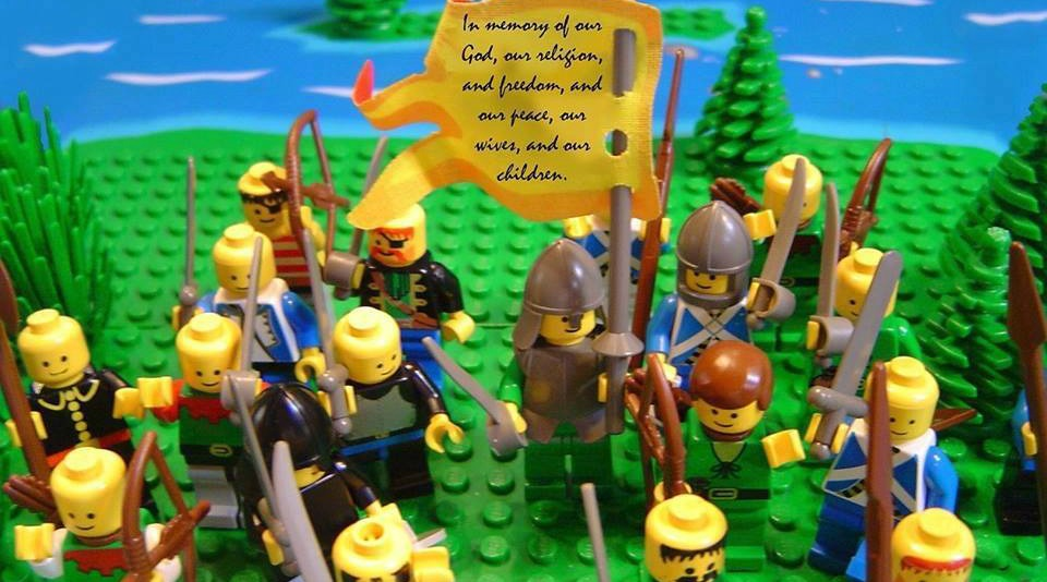 Lego creation of Captain Moroni