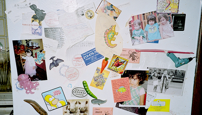 Refrigerator Cluttered with Memories