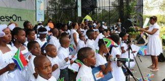 Children singing in Africa