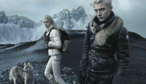 models posing in Iceland