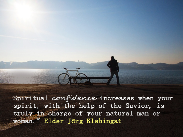 Elder Klebingat quote about how spirituality increased with self-mastery.