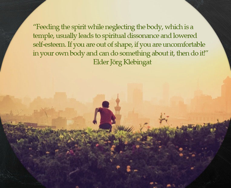 Elder Klebingat quote about the connection between between being physically fit and Spiritual Growth
