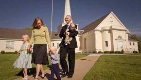 A family at church