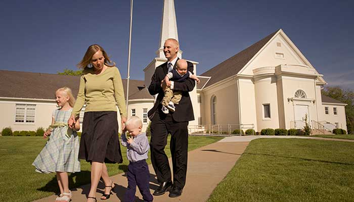 A family at church