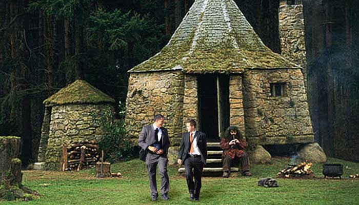 LDS missionaries at Hagrid's Hut