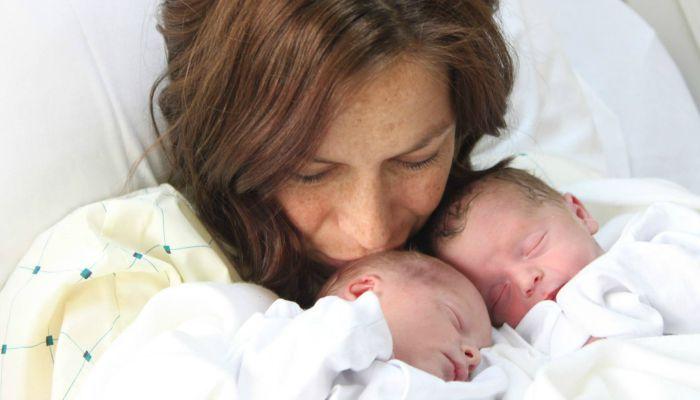 Noelle Pikus-Pace, baby twins