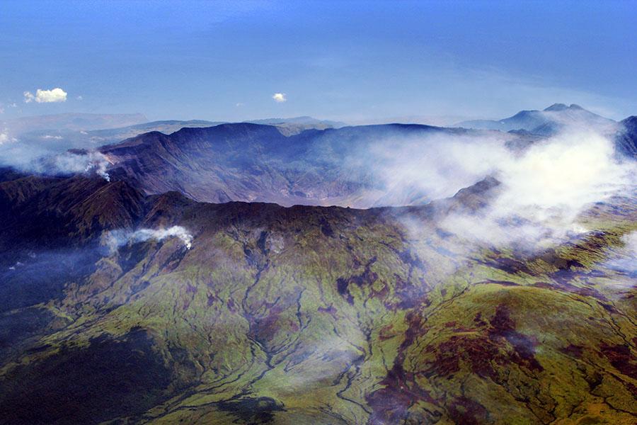 Mount Tambora's caldera