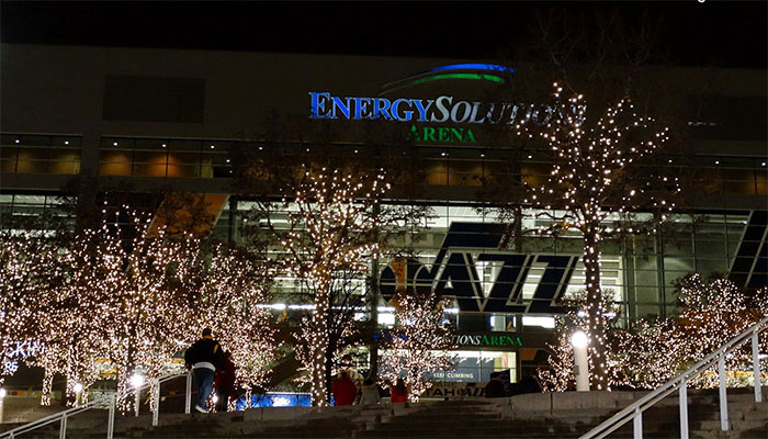 Energy Solutions Arena at Christmas time