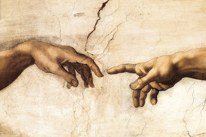 Michelangelo's painting of the finger of God