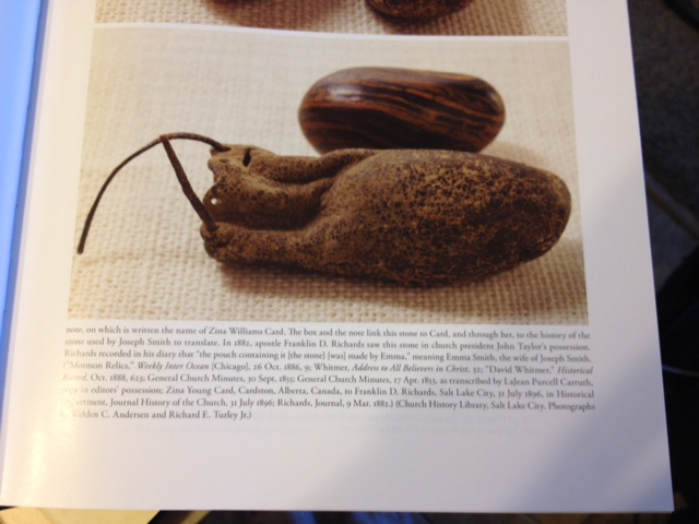 Illustration of Joseph Smith Seer stone and pouch