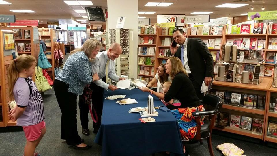 Author Jen Brewer at a book signing event