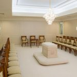 Mormon temple room.
