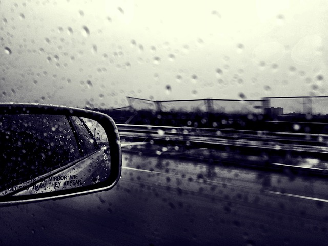 image of a car side mirror