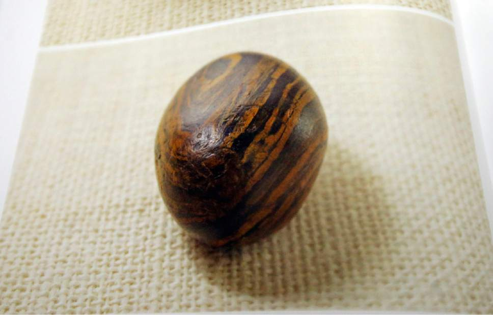 A picture of Joseph Smith's seer stone