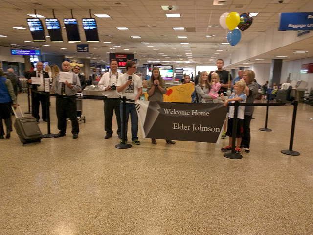 LDS Family welcomes home missionary