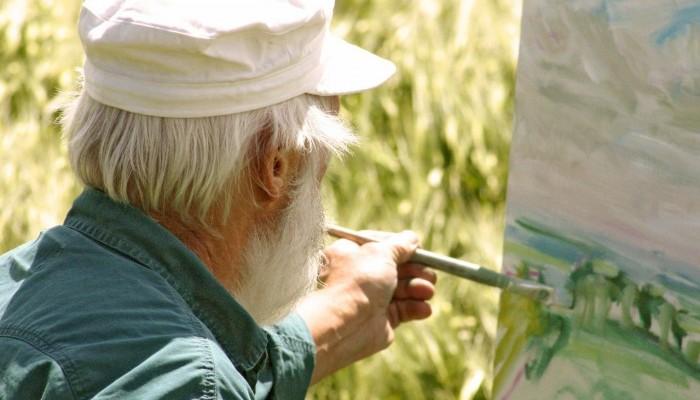 Latter-day Saint man paints a nature scene