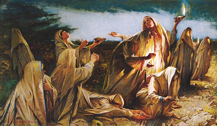 キリストの再臨に備える五人のおとめ