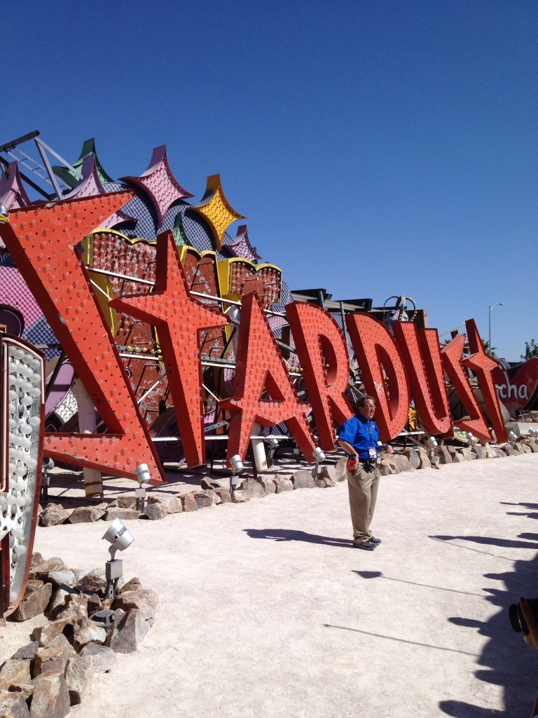 Stardust sign from the Neon Sign Museum Boneyard outdoor Exhibit
