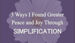 Peace and joy through simplification